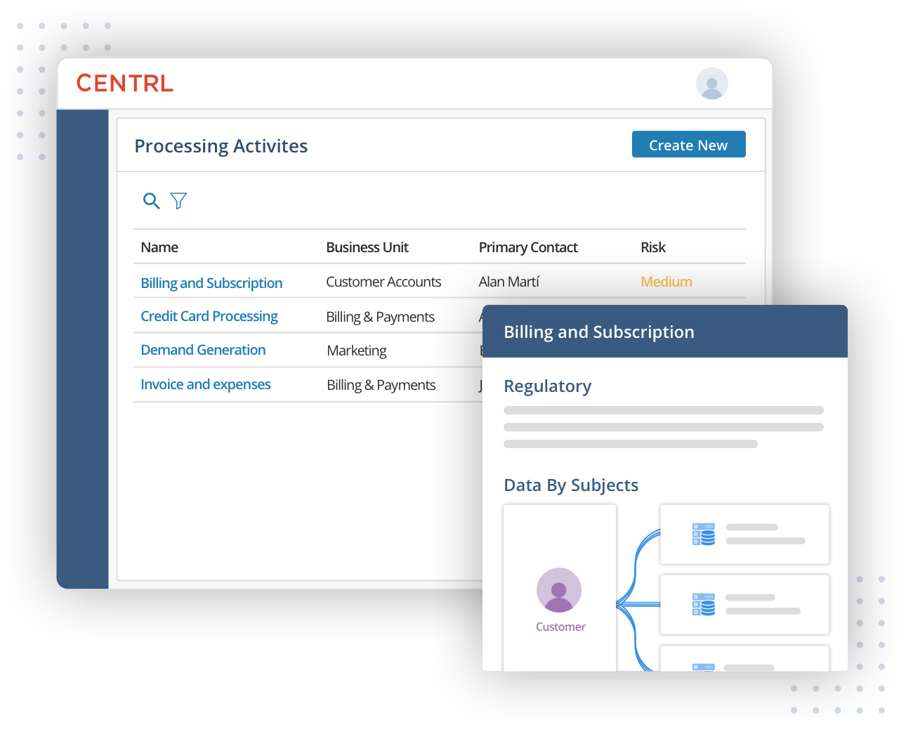 Generate real-time, up-to-date records of processing activities and more for compliance reporting