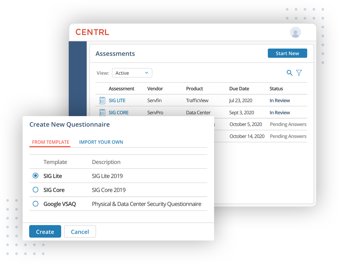 Automate end-to-end third-party vendor assessments